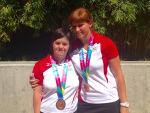 Nicole & Julia holten Tennis-Bronze im Unified-Doppel